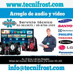 Arreglo de audio y video tecnifrost